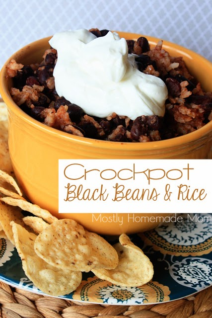 Crockpot Black Beans and Rice 1
